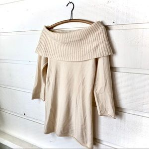 LUXE Arden B. 100% Cashmere Cowl Neck Sweater